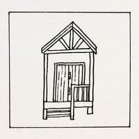 Beach Huts | Line Drawing | Alison Collins